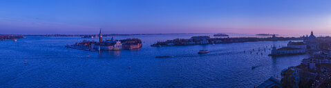 Panoramic view of an island in Venetian Lagoon at sunset, Italy - CUF31365