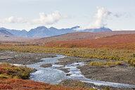 USA, Alaska, Denali National Park, Alaska Range in autumn - CVF00825