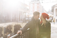 Romantic young couple, Covent Garden, London, UK - CUF31684