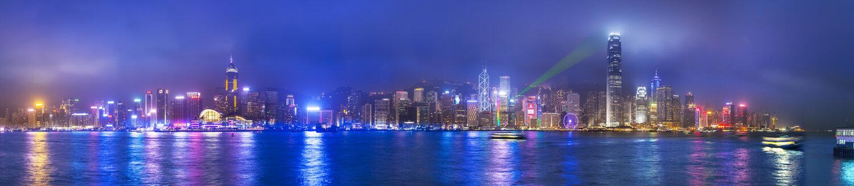 Central Hong Kong skyline and Victoria harbor, Hong Kong, China - ISF10004