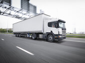 Freight truck on the move on motorway - CUF32833