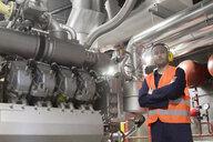 Portrait of male technician in power station - CUF33060