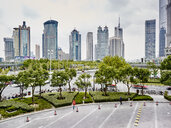 Financial district, Pudong, Shanghai, China - ISF10759