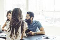 Business people in brainstorming meeting - ISF11047
