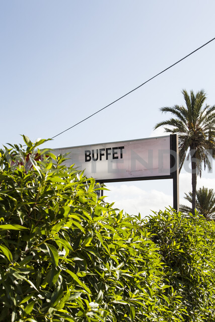 Mallorca, sign, buffet - JMF00414