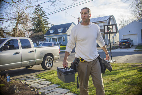 Handyman going to house call - ISF12948