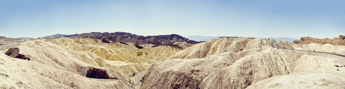 Panoramic view of winding road, Zabriskie Point, Death Valley, California, USA - ISF13023