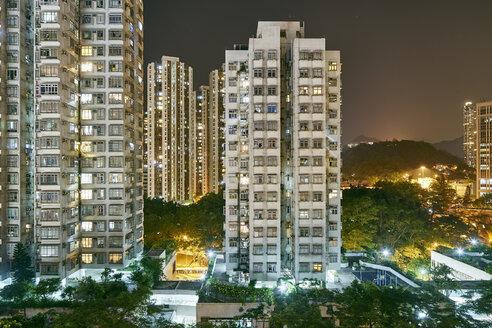 Cityscape at night, Tsuen Wan, Hong Kong - ISF13145