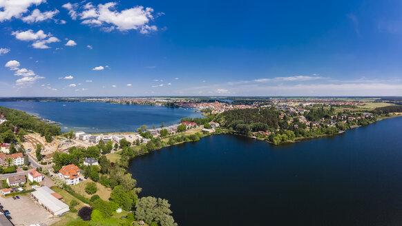 Germany, Mecklenburg-Western Pomerani, Mecklenburg Lake District, Waren an der Mueritz, Aerial view with Mueritz, Koelpinsse and Feisnecksee - AMF05751