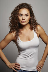 Portrait of woman in tank top - ISF14171