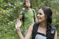 Young hikers in forest - CUF33504