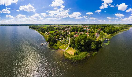 Germany, Mecklenburg-Western Pomerania, Mecklenburg Lake District, Aerial view of Torgelow am See, Lake Torgelow - AMF05764