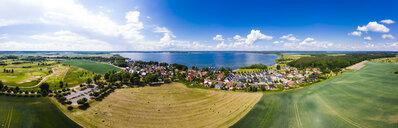 Germany, Mecklenburg-Western Pomerania, Mecklenburg Lake District, Aerial view of Fleesensee and lake Fleesensee - AMF05782