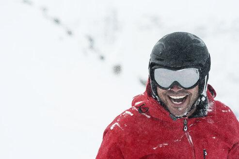 Portrait of mid adult male skier, Obergurgl, Austria - CUF34081