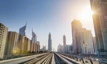 Downtown Dubai Metro rails, United Arab Emirates - CUF35634