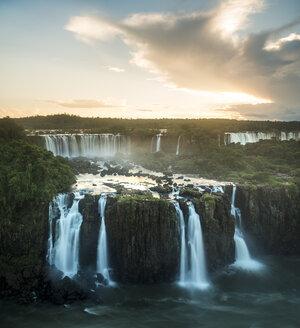Elevated view of Iguazu falls, Parana, Brazil - CUF35664
