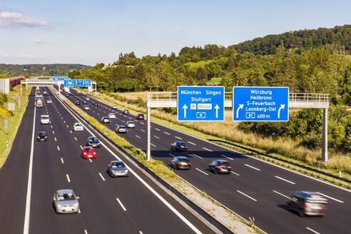 Germany, Baden-Wuerttemberg,  Leonberg, motorway A 8 - WDF04698