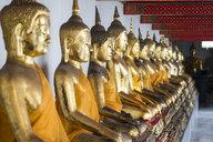 Thailand, Bangkok, Buddha statues at Wat Phra Kaeo - CHP00483