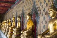 Thailand, Bangkok, Buddha statues at Wat Arun - CHP00486