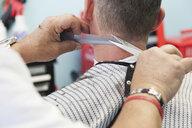 Barber cutting man's hair - CUF36539