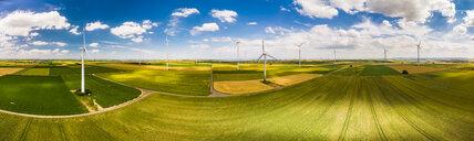 Germany, Rhineland-Palatinate, Alzey, Wind park and fields - AMF05791