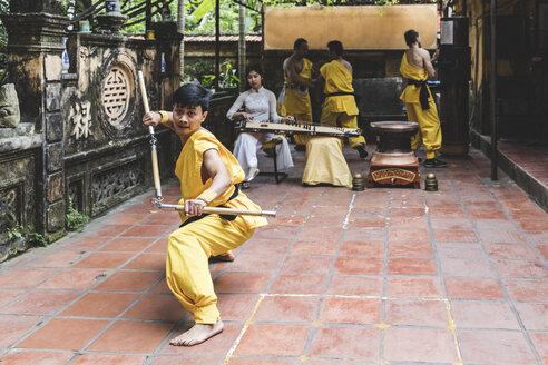 Vietnam, Hanoi, young man exercising Kung Fu - WPEF00529