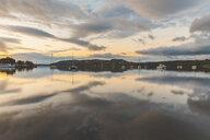 United Kingdom, England, Cumbria, Lake District, Windermere lake, view at sunrise from Ambleside - WPEF00550