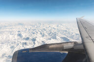 Italy, Aosta, Matterhorn peak and Alps from the plane - WPEF00561