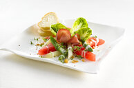 Watermelon asparagus salad with ham - KSWF01914