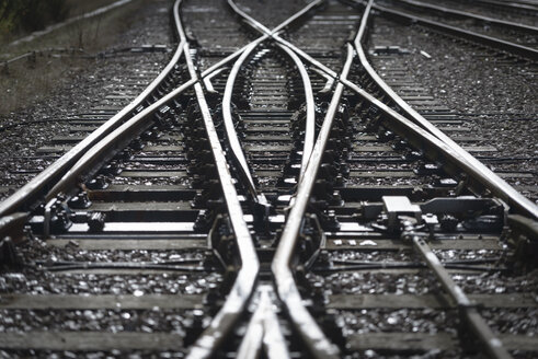 Close up detail of railway line - CUF38493