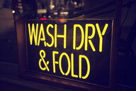 Laundry, neon sign, Los Angeles, California, USA - ISF15550