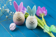 Two painted Easter eggs with rabbit ears - JUNF01073