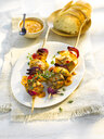 Grill skewer, chicken meat, onion, paprika, sauce, thyme - KSWF01959
