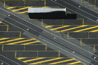 Aerial view of parked container truck, Port Melbourne, Melbourne, Victoria, Australia - ISF16213
