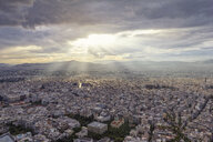 Greece, Attica, Athens, View from Mount Lycabettus over city - MAMF00148
