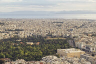 Greece, Attica, Athens, View from Mount Lycabettus over city and Olympieion - MAMF00151
