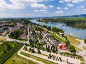 Germany, Rhineland-Palatinate, Aerial view of Heidesheim am Rhein, Rhine river - AMF05795
