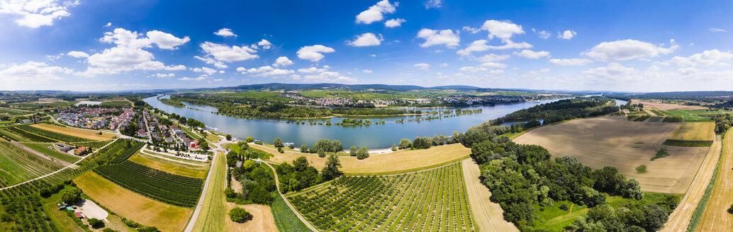 Germany, Rhineland-Palatinate, Aerial view of Heidesheim am Rhein, Rhine river, Eltville and Erbach - AMF05798