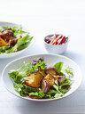 Still life of pumpkin, garlic and sesame salad - CUF39490