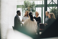 Multi-ethnic business people standing at office - MASF08068