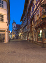 Germany, Lower Saxony, Goettingen, old town at blue hour - KLR00618