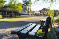 Germany, Luebbenau, empty bench - FRF00694