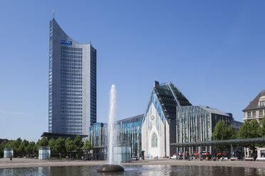 Germany, Leipzig, City-Hochhaus,  Augusteum and Paulinum at Augustusplatz - GW05577