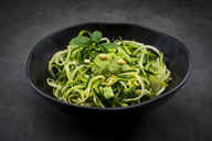Bowl of Zoodels with avocado basil pesto - LVF07248