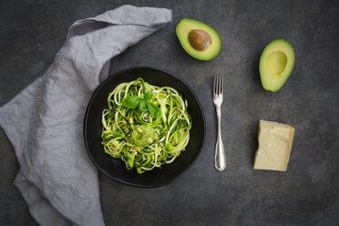 Bowl of Zoodels with avocado basil pesto - LVF07251
