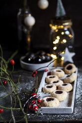 Christmas Cookies filled with jam - SBDF03643