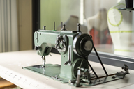 Sewing machine models in fashion designer's studio - AFVF00748