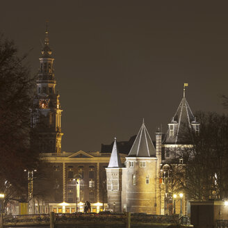 De Waag and Zuiderkerk from Geldersekade, Amsterdam, Netherlands - CUF41487