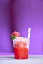 Plastic cup of watermelon slush - BZF00419