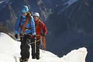 Mountaineers on mountain, Chamonix, Haute Savoie, France - CUF42365